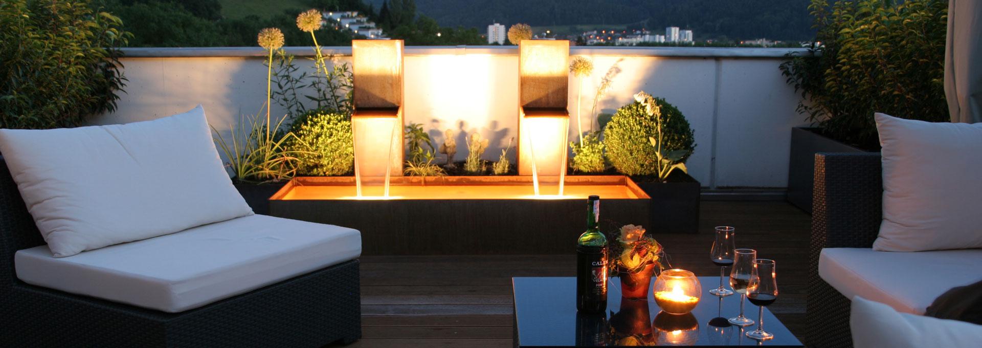 gartensitzplatz und gartenlounge. Black Bedroom Furniture Sets. Home Design Ideas